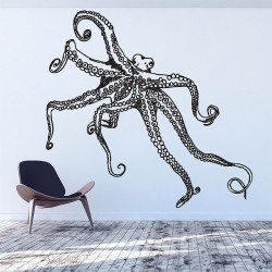 Octopus V.2 Vinyl Wall Art Decal (WD 0894)