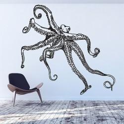สติกเกอร์ติดผนังปลาหมึกยัก Octopus V.2 Wall Sticker (WD-0894)