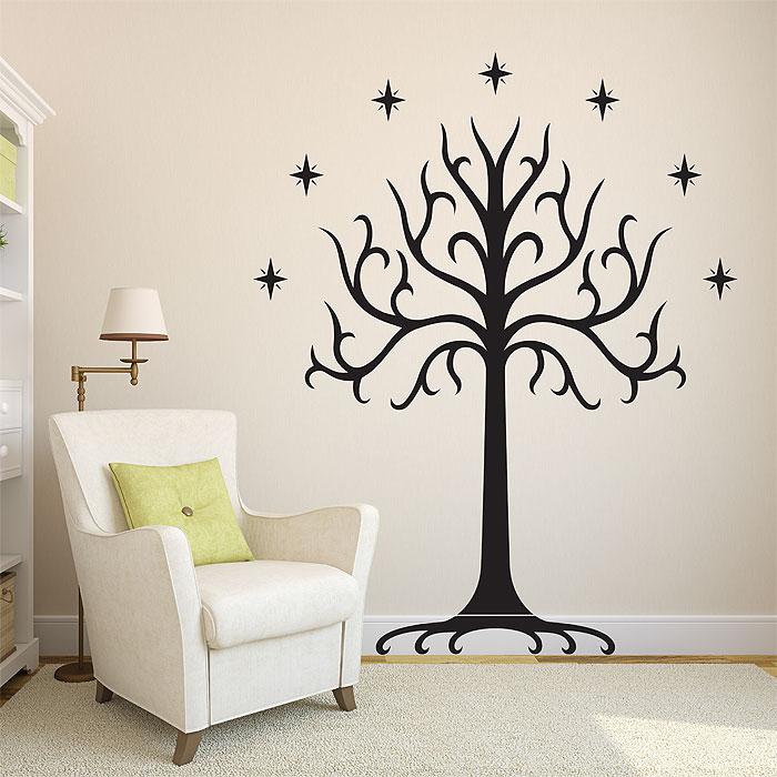 sc 1 st  Art2Click & White Tree of Gondor Vinyl Wall Art Decal
