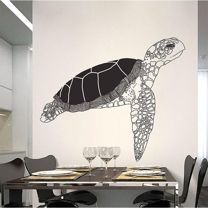 & Turtle Vinyl Wall Art Decal