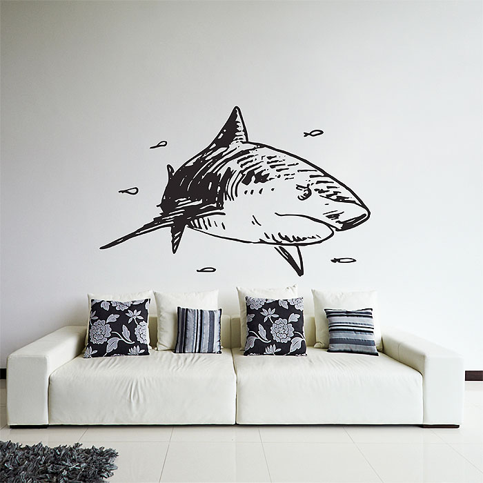 Shark Vinyl Wall Art Decal