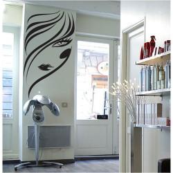 สติกเกอร์ติดผนัง Face Girl Hair Salon Beauty  Wall Sticker (WD-0910)