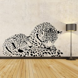 Cheetah Vinyl Wall Art Decal (WD-0912)