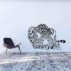 Leopard v.2 Vinyl Wall Art Decal (WD-0914)