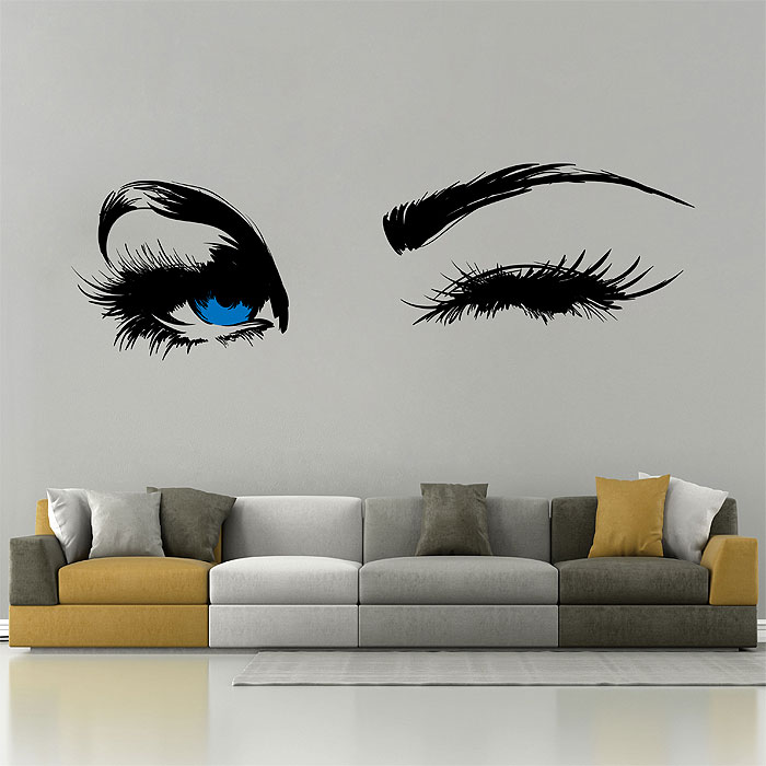 Wall Art Stickers Eyes : Eyes eyebrow vinyl wall art decal