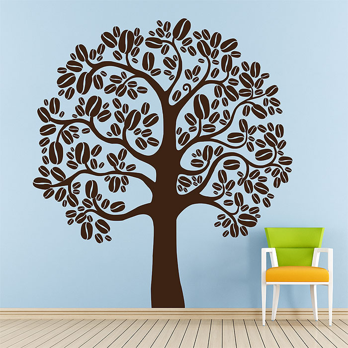 Coffee Tree Vinyl Wall Art Decal