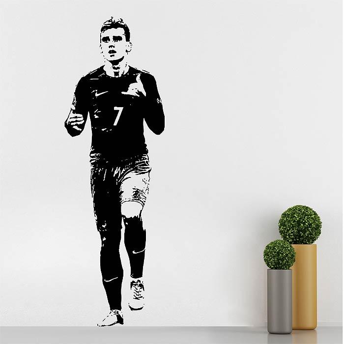 Antoine Griezmann Fußballspieler Wandaufkleber Wandtattoo