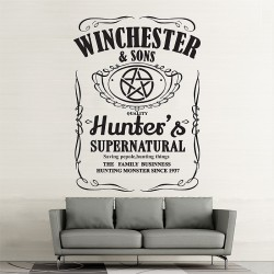 Winchester and Sons Supernatural  Vinyl Wall Art Decal (WD-0935)