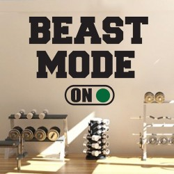 Beast Mode  On Vinyl Wall Art Decal (WD-0939)