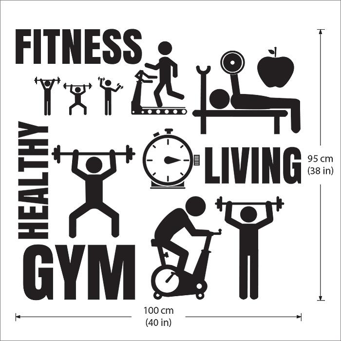 Fitness Gym Sport Vinyl Wall Art Decal