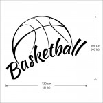 Basketball Vinyl Wall Art Decal