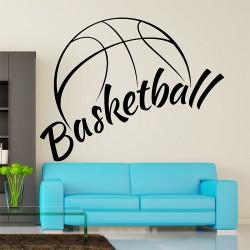 สติกเกอร์ติดผนัง บาสเกตบอล Basketball Wall Sticker (WD-0947)