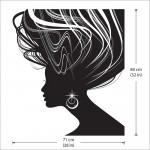 สติกเกอร์ติดผนังทรงผมผู้หญิง Woman Beautiful Hair Wall Sticker