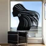 สติกเกอร์ติดผนัง Woman beautiful hair Wall Sticker