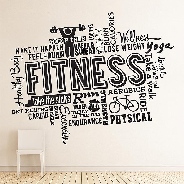 Fitness Word Cloud Wall Sticker