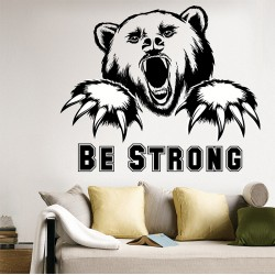 สติกเกอร์ติดผนัง Be Strong Bear Wall Sticker (WD-0961)