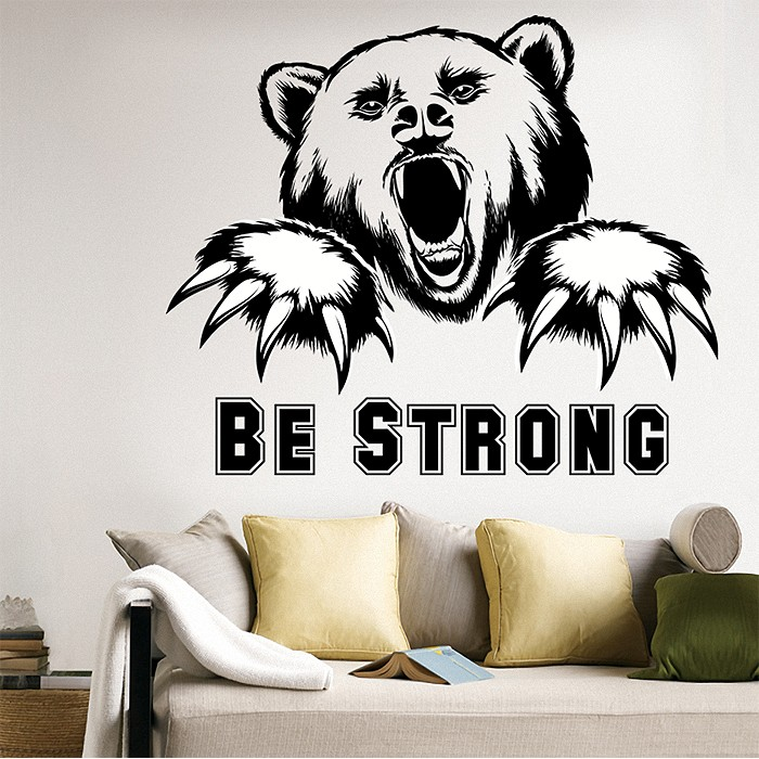 Tattoo Wall Art strong bear vinyl wall art decal