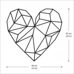 Geometric Heart Vinyl Wall Art Decal