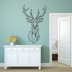 Geometric Deer Vinyl Wall Art Decal (WD-0966)