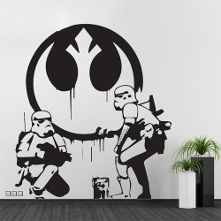 Banksy Star Wars Stormtrooper WandaufkVinyl Wall Art Decal (WD-0970)