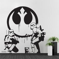 สติกเกอร์ติดผนังสตอร์มทรูปเปอร์ Banksy Star Wars Stormtrooper Wall Sticker (WD-0970)