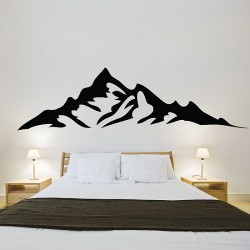 Mountains Vinyl Wall Art Decal (WD-0976)