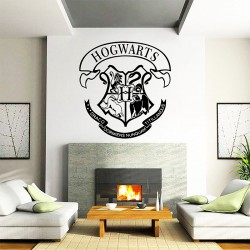 Hogwarts School Logo Harry Potter Vinyl Wall Art Decal (WD-0983)