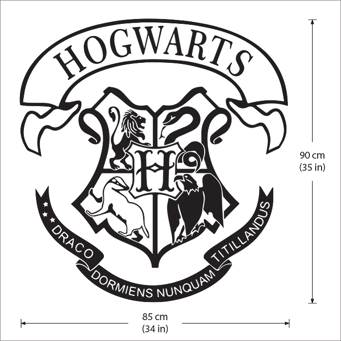 hogwarts school logo harry potter vinyl wall art decal joker logo font joker logo vectors