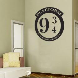 สติกเกอร์ติดผนัง แฮร์รี่ พอตเตอร์  Platform 9 3/4 Harry Potter Wall Sticker (WD-0984)