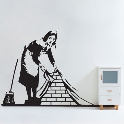 Banksy Maid in London Vinyl Wall Art Decal (WD-0986)