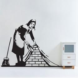 สติกเกอร์ติดผนัง Banksy Maid in London Wall Sticker (WD-0986)