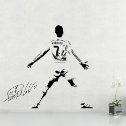 Cristiano Ronaldo Soccer Football Player Vinyl Wall Art Decal (WD-0989)