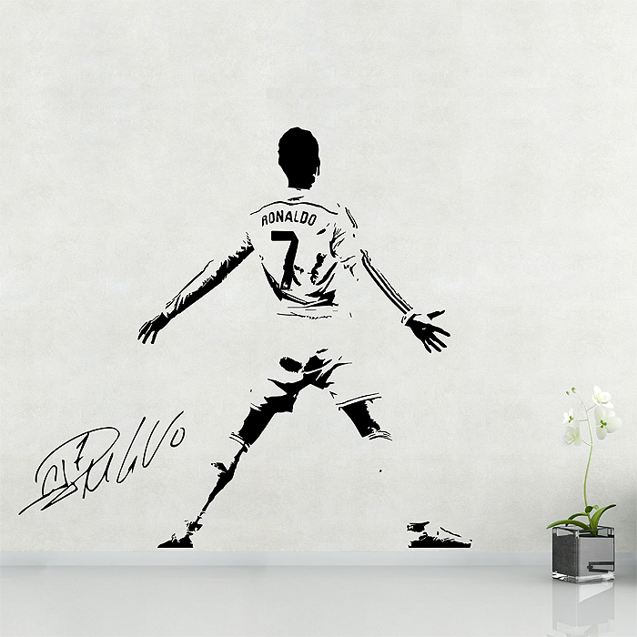 Cristiano Ronaldo Soccer Football Player Vinyl Wall Art Decal