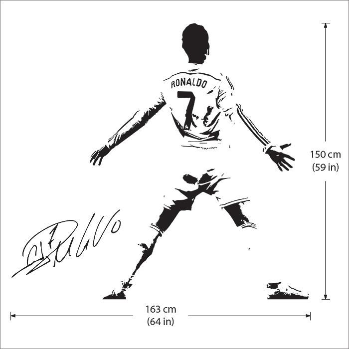 Ronaldo soccer football player vinyl wall art decal cristiano ronaldo soccer football player vinyl wall art decal voltagebd Image collections