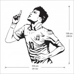 Neymar da Silva Soccer Football Player Vinyl Wall Art Decal