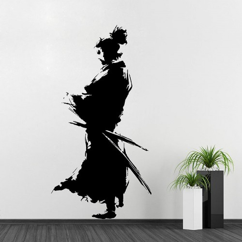 Samurai Silhouette Vinyl Wall Art Decal