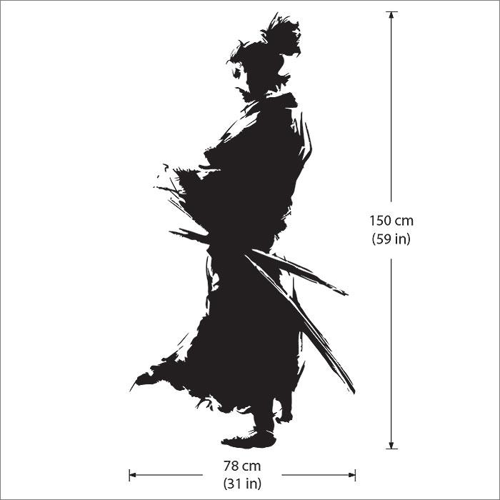 Samurai Silhouette Vinyl Wall Art Decal