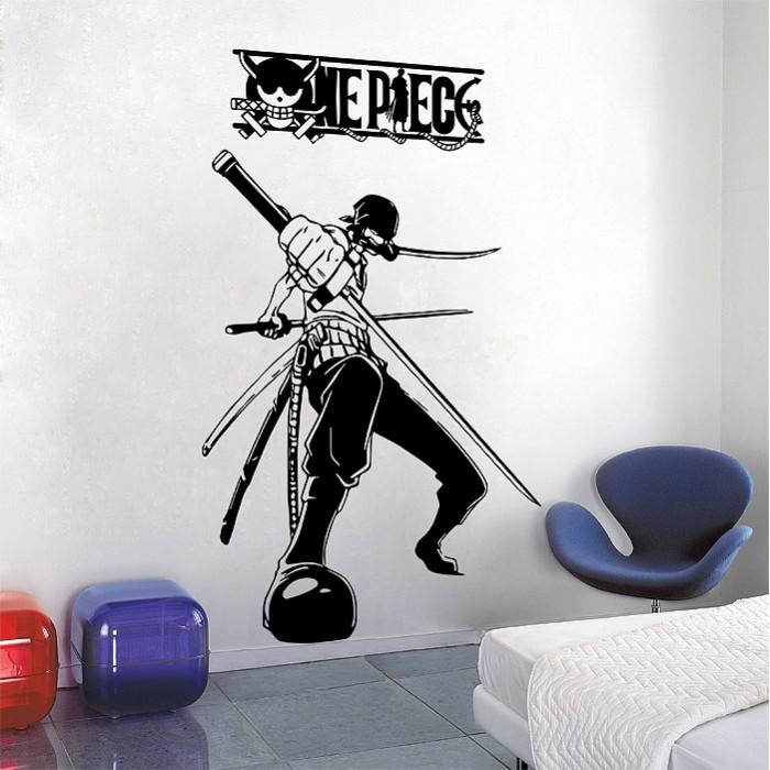 one piece roronoa zoro vinyl wall art decal