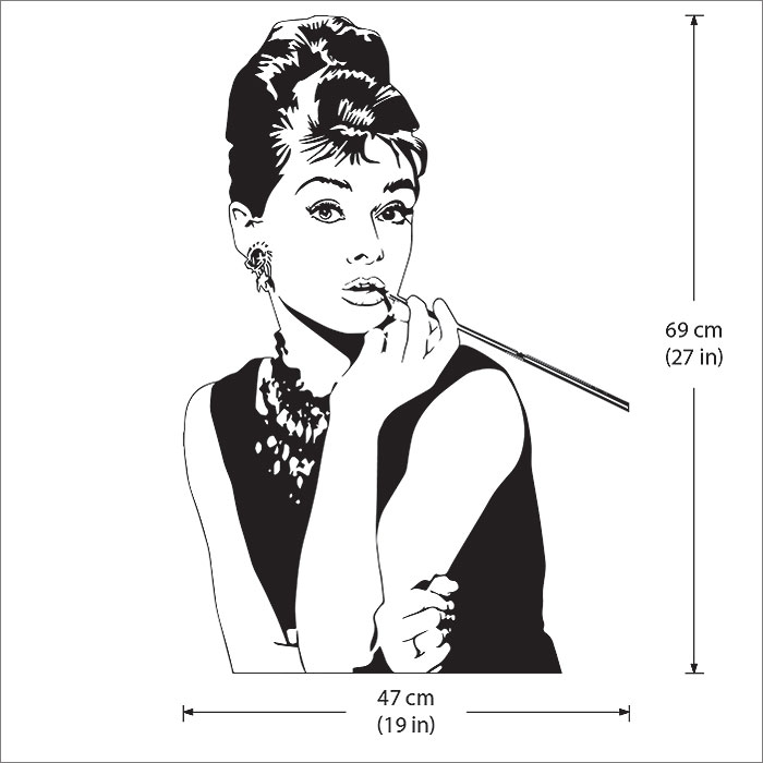 Audrey Hepburn Superstar Vinyl Wall Art Decal