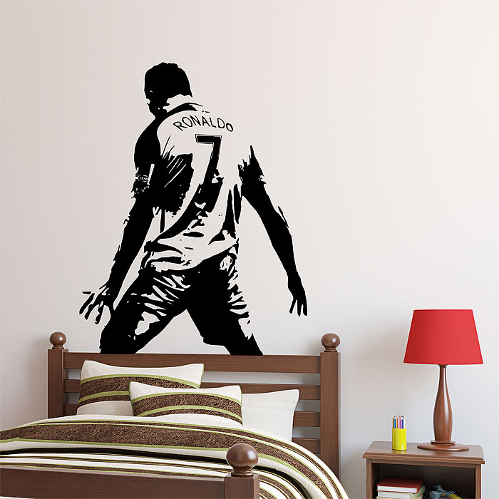 Wall Art Decal ronaldo player football soccer vinyl wall art decal