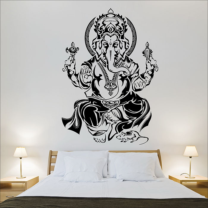 tribal ganesh hindo god vinyl wall art decal