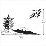 สติกเกอร์ติดผนัง House Japan white Mount Fuji Wall Sticker