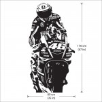 Valentino Rossi VR46 The Doctor Vinyl Wall Art Decal