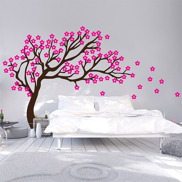 Japanese cherry Tree Vinyl Wall Art Decal