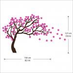 สติกเกอร์ติดผนัง ต้นซากุระญี่ปุ่น / Wall Sticker Japanese cherry Tree