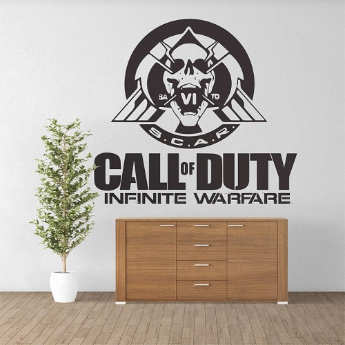 Call of duty Infinite Warfare Scar Skul Vinyl Wall Art Decal