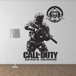 Call of duty Infinite Warfare Soldier Game Vinyl Wall Art Decal (WD-1018)