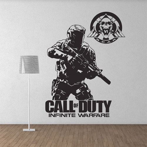 Call of duty Infinite Warfare Soldier Game Vinyl Wall Art Decal