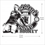 Wayne Rooney Football Manchester United Vinyl Wall Art Decal