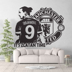 Zlatan Ibrahimovic football Soccer Manchester utd  Vinyl Wall Art Decal (WD-1021)